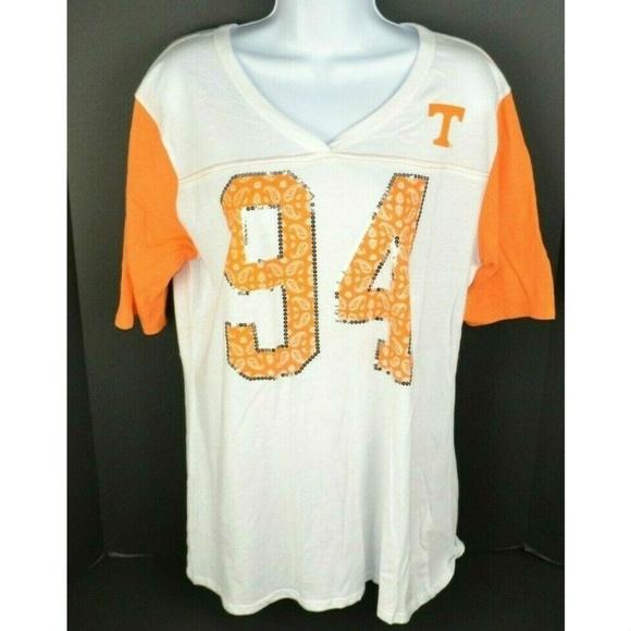 sale retailer c2b1b 0226c Tennessee Vols Jersey Style Paisley Sequin T-Shirt